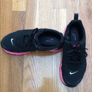 Pink and Black Nike Comfort Footbed Sneakers